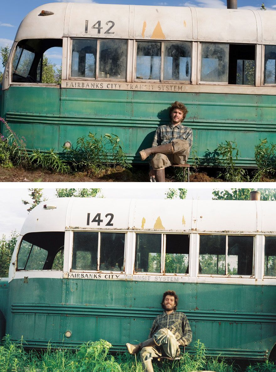 Actors Vs Historic People They Played  Cinema  Movies Film  Emile Hirsch As Christopher Mccandless In Into The Wild