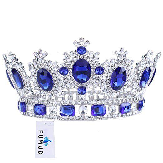 Herzii Wedding Crystal Rhinestone Pageant Birthday Princess Tiara Crown Headband for Brides Girls KwBXzrR