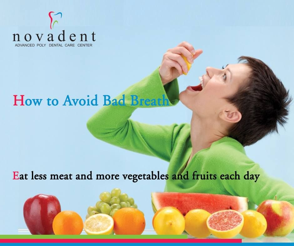 How to avoid bad breath Follow best tips to avoid bad breath. Eat less meat and more vegetables and fruits each day