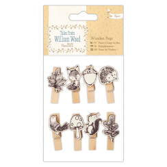 Papermania Wooden Pegs (8pcs) - Tales from Willson Wood