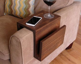 Sofa Chair Arm Rest Tray Table Stand Blackoak Design