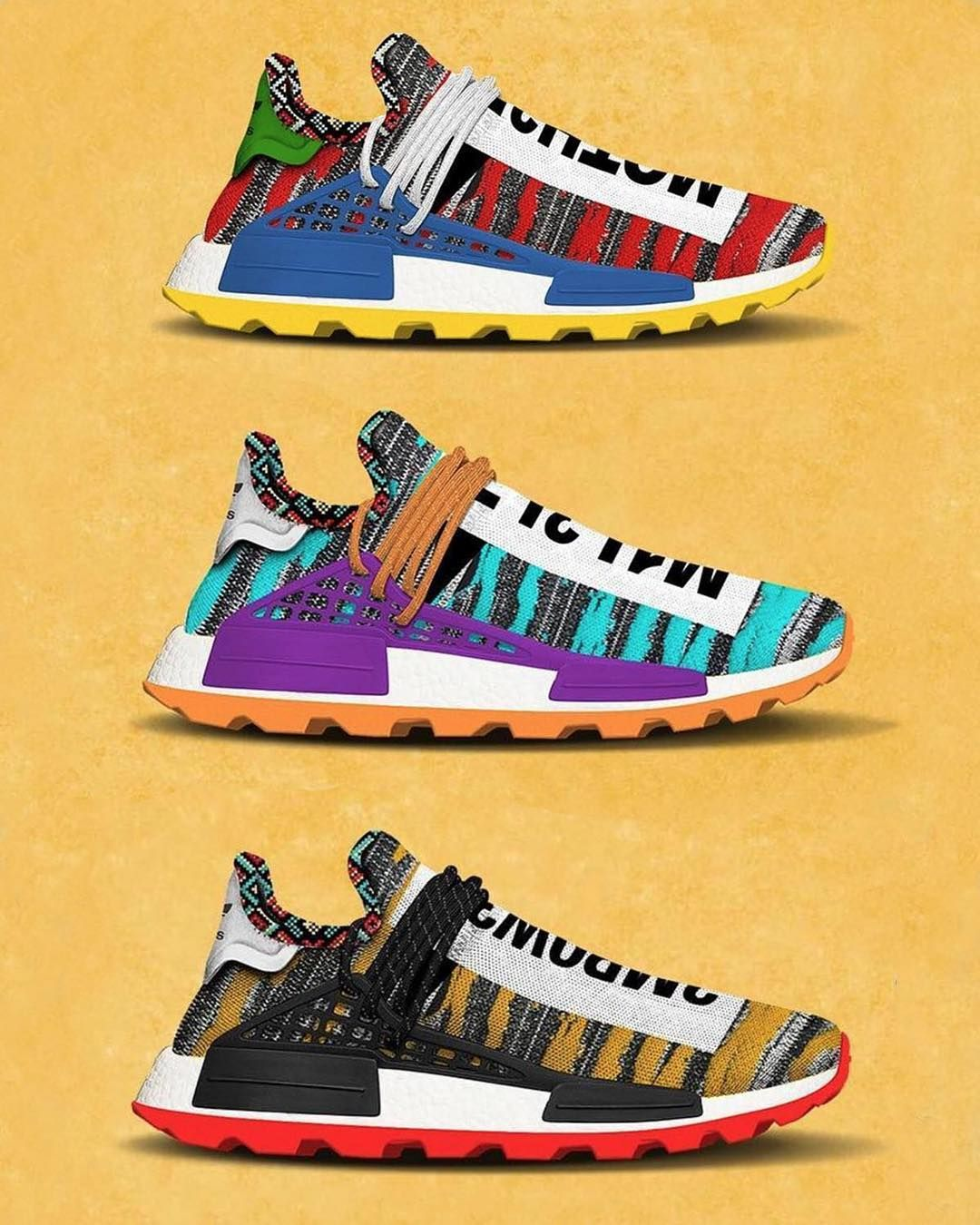 on sale 7fb34 e9c05 The @pharrell x adidas Originals Afro NMD Hu Pack is ...