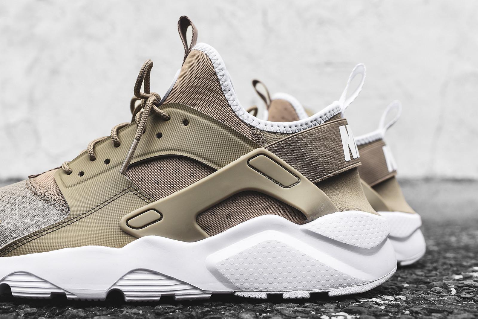 aa0d53130629 Nike Huarache Run Ultra - Khaki   White