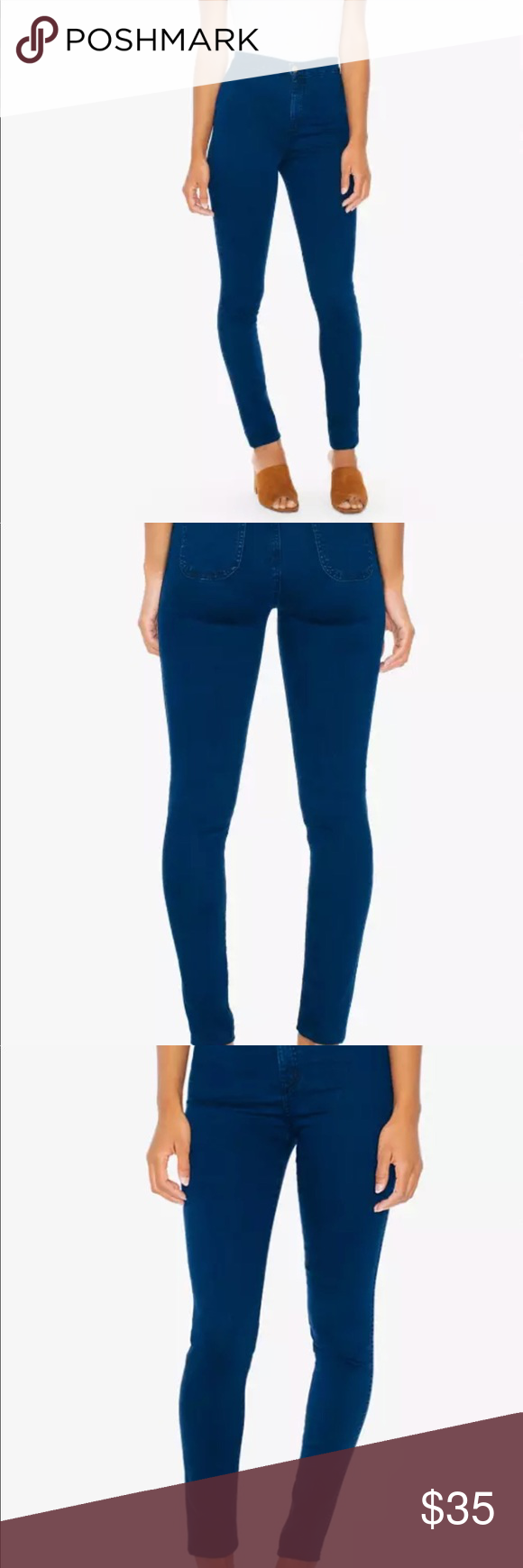 American Arel Dark Wash Indigo Jeans Size S Available In Only Refer To Sizing Chart Pics Description This Slim High Waist Jean