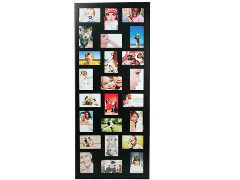 Black 24 aperture multi photo frame collage photographs pictures ...