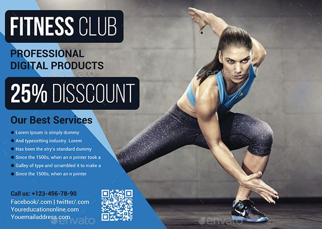 Fitness Flyer  Gym Flyer  Fitness Flyers    Gym