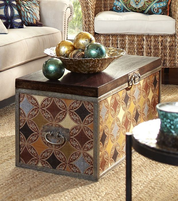 Use This Intricately Patterned Surat Trunk As A Coffee Table As