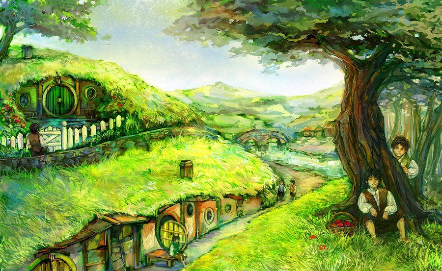 LOTR shire hobbit by aprilis420.deviantart.com