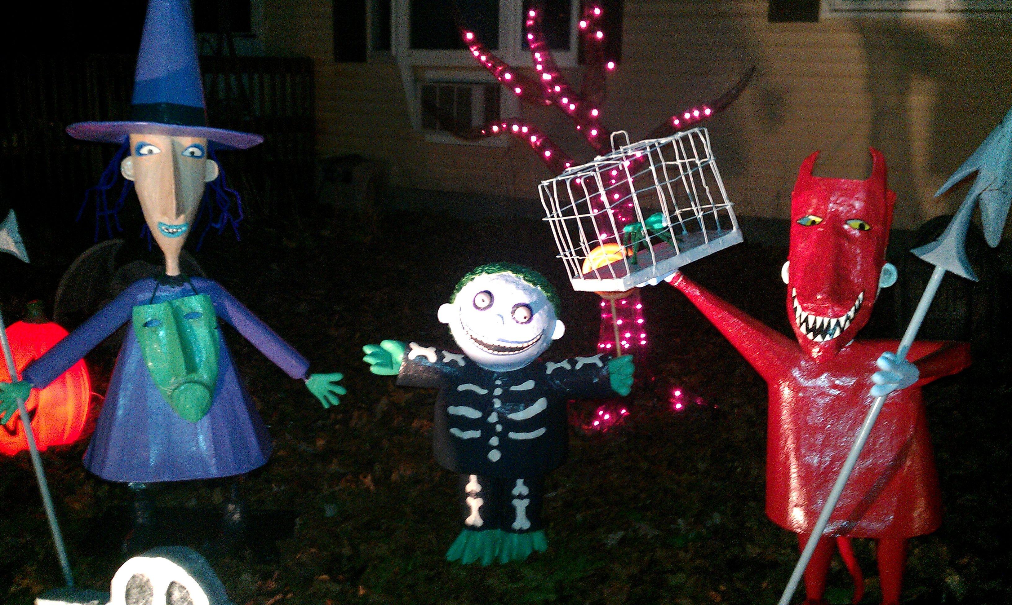 Paper Mache Nightmare Before Christmas Characters (Lock, Shock ...