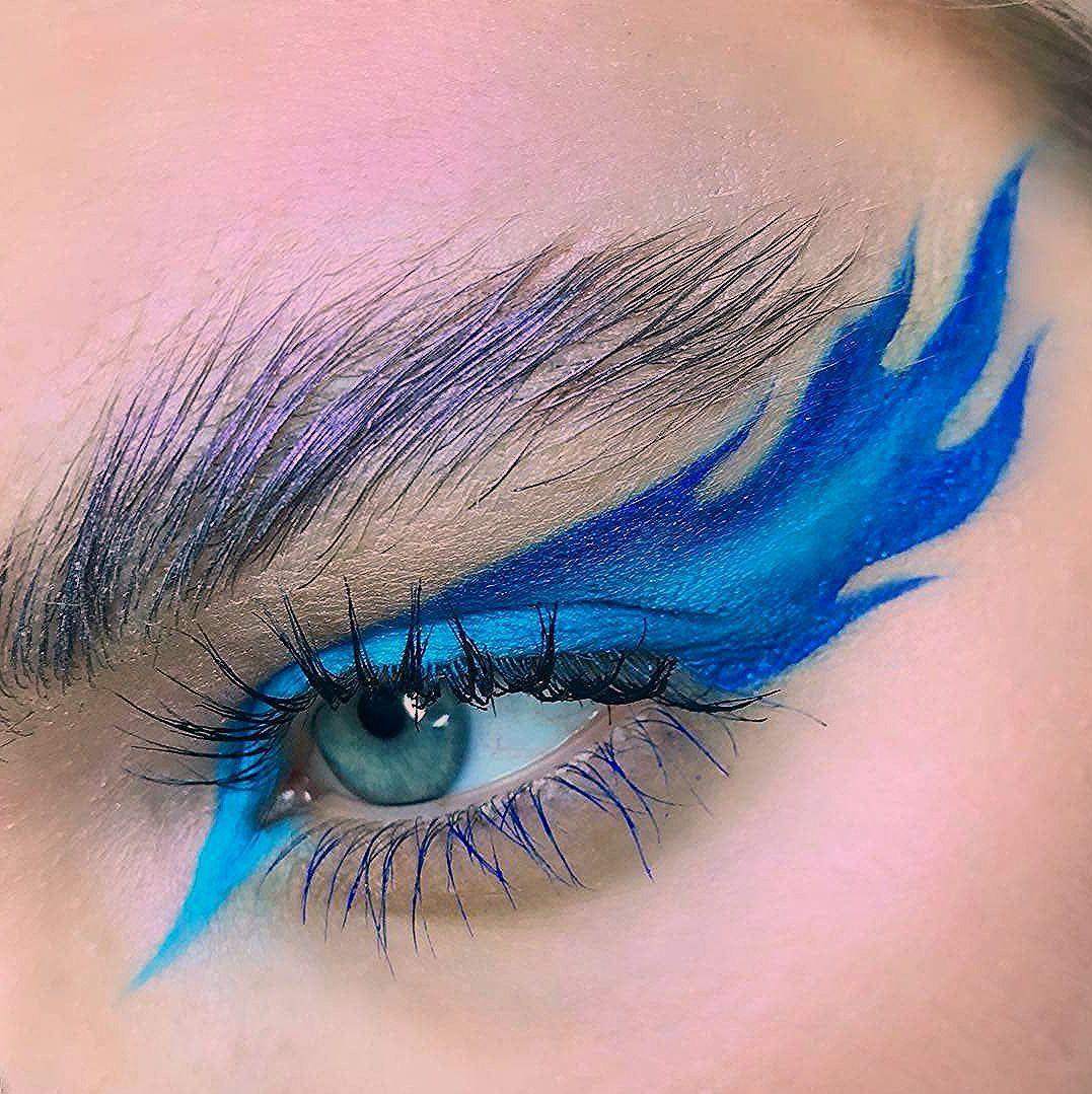 BLUE FLAME 🔥💙 ⠀⠀⠀⠀⠀⠀⠀⠀⠀ 🎨_ks_makeup