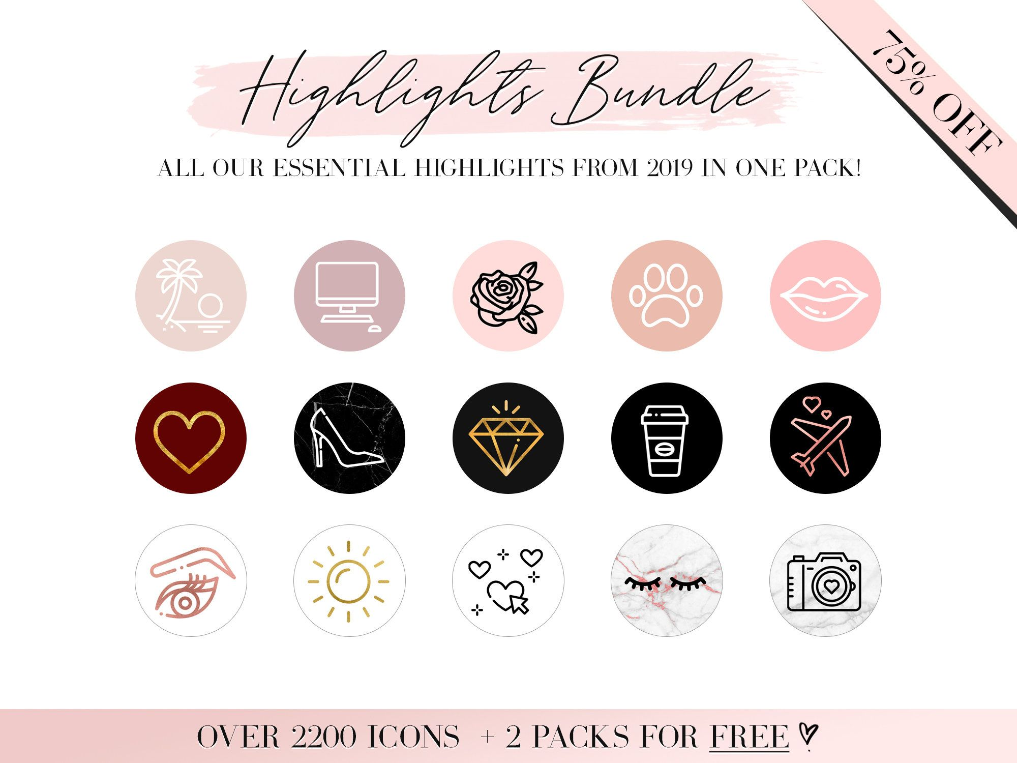2000 Instagram Story Highlight Icons Bundle Instagram Etsy In 2020 Instagram Highlight Icons Instagram Story Story Highlights