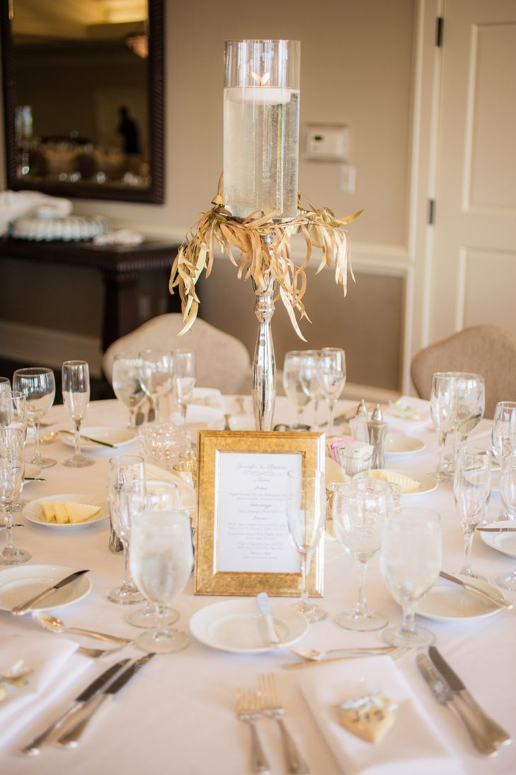 An Ivory And Gold Wedding At The Golf Club At Newcastle In Newcastle Washington Wedding Table Settings Wedding Table White Wedding Table Setting