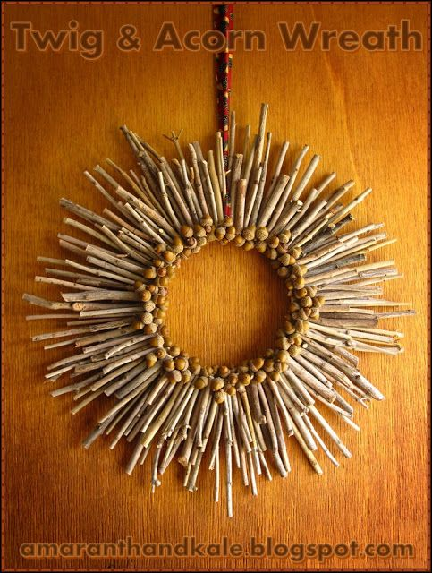 Twig and acorn wreath #autumncrafts
