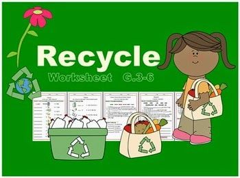 Love Science with Smiley Teacher : Recycle Worksheet G.3-6