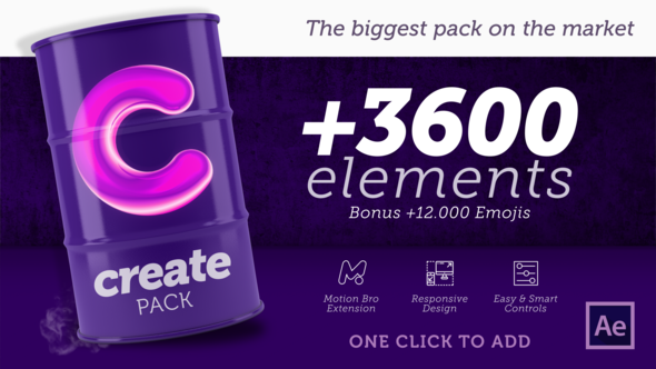 Create Pack Web design, Emoji creator, After effects