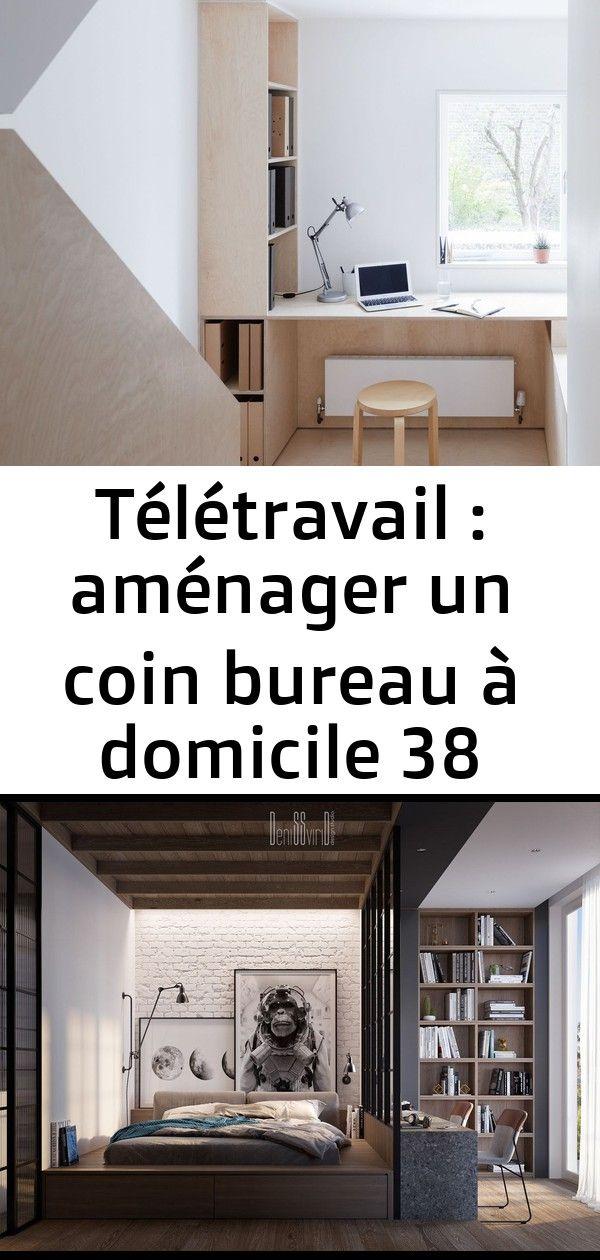 Télétravail  aménager un coin bureau à domicile 38 Un loft sombre par un architecte  PLANETE DECO a homes world comment decorer son bureau mai...