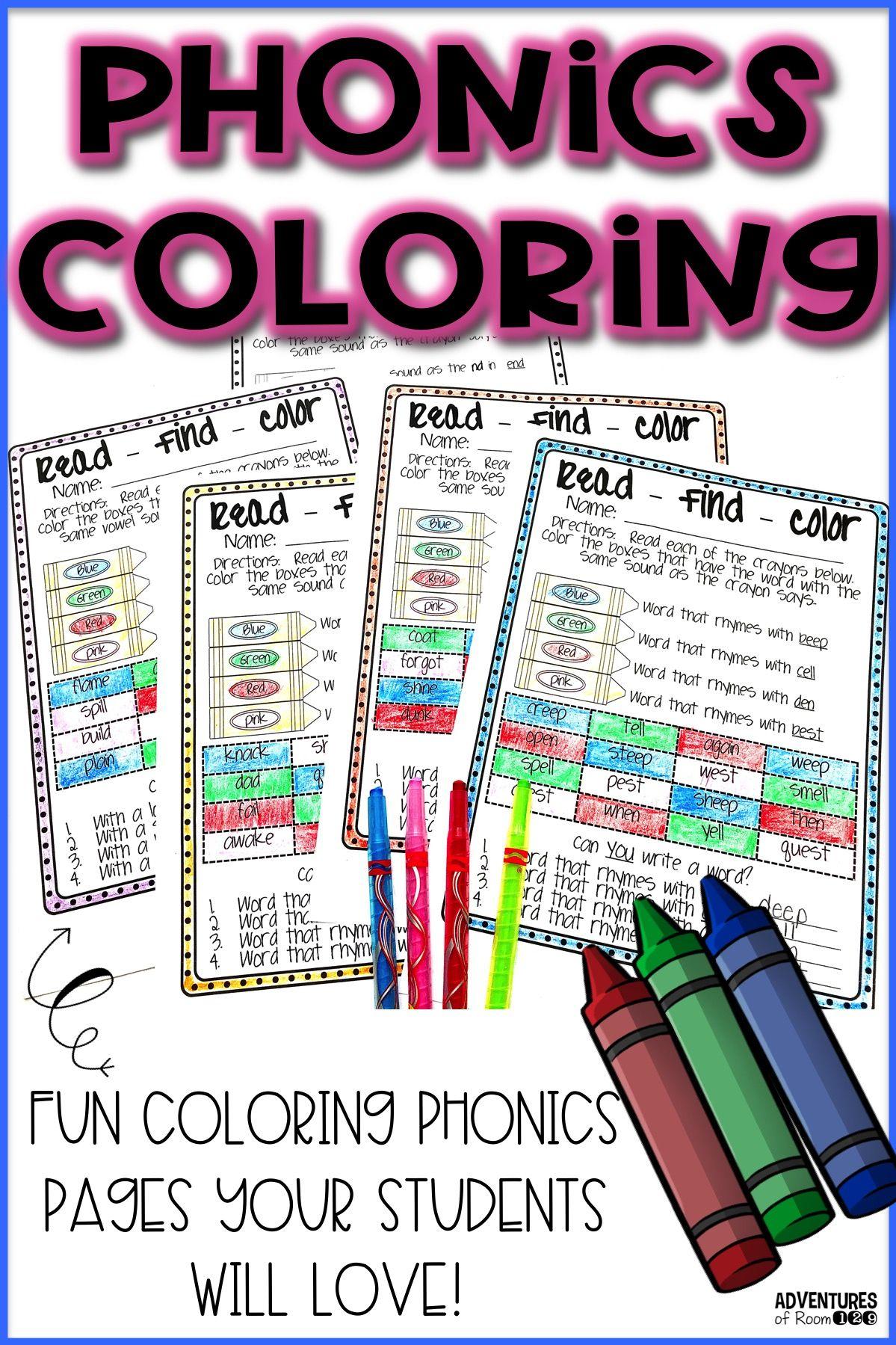 Phonics Coloring Printables