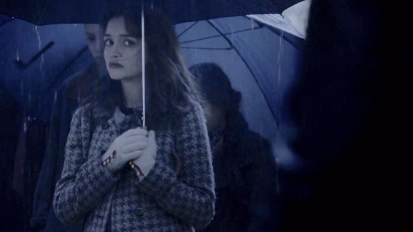 Emma Decody at Blair Watson's funeral