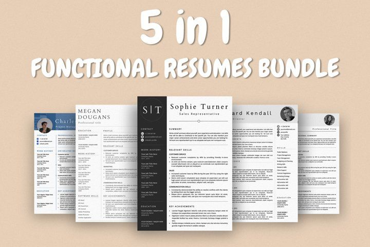 Functional resume templates bundle 634478 resume