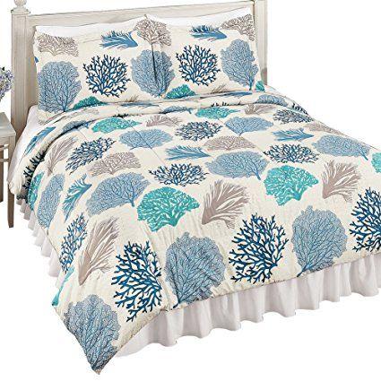 Oceanside Beach Coral Reef Pattern Medium-Weight Comforter ...
