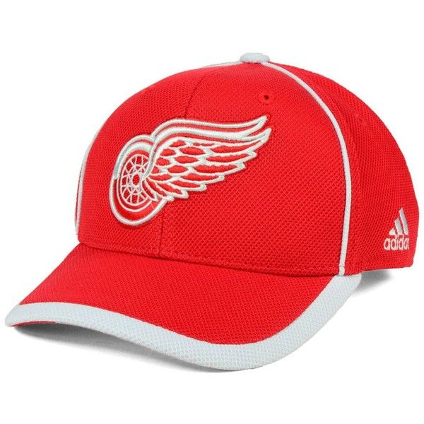 2b2d54d974f9e adidas Detroit Red Wings Clipper Adjustable Cap ( 28) ❤ liked on Polyvore  featuring men s fashion