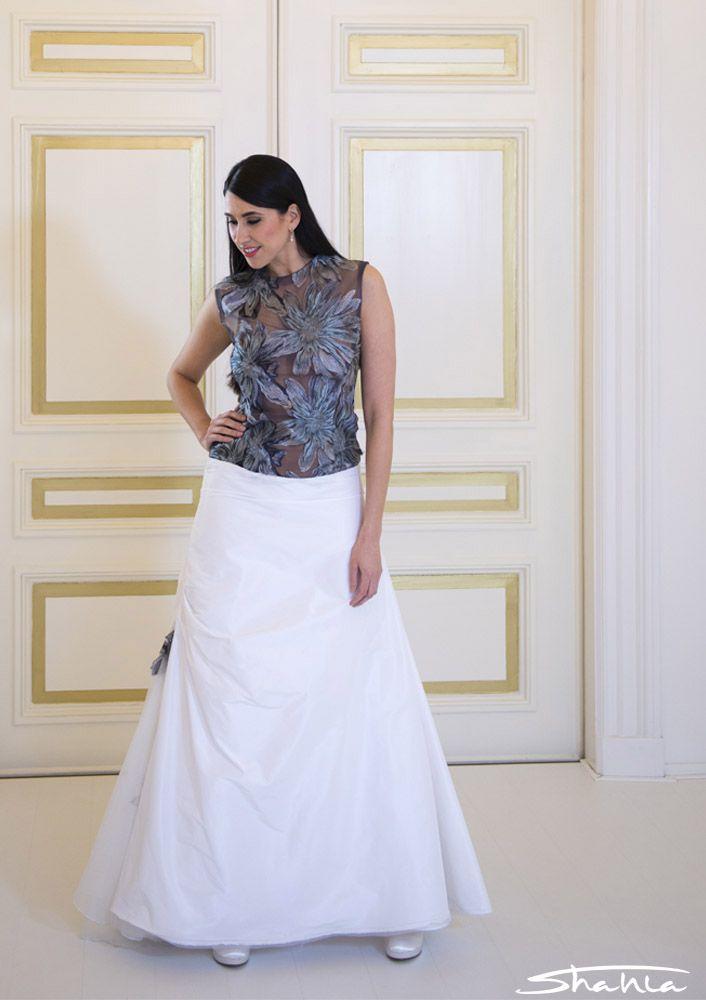 Goedkope gekleurde trouwjurk