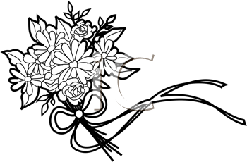 37+ Wedding flower clipart black and white info