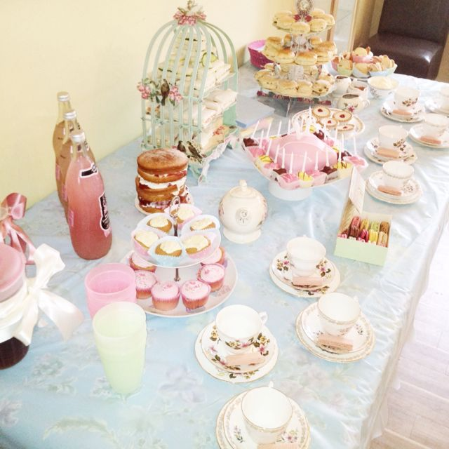 Tea party Tea party :) how cute this would be for MY shower hehe