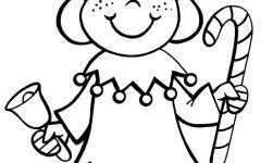 lovely christmas elf coloring page ideas