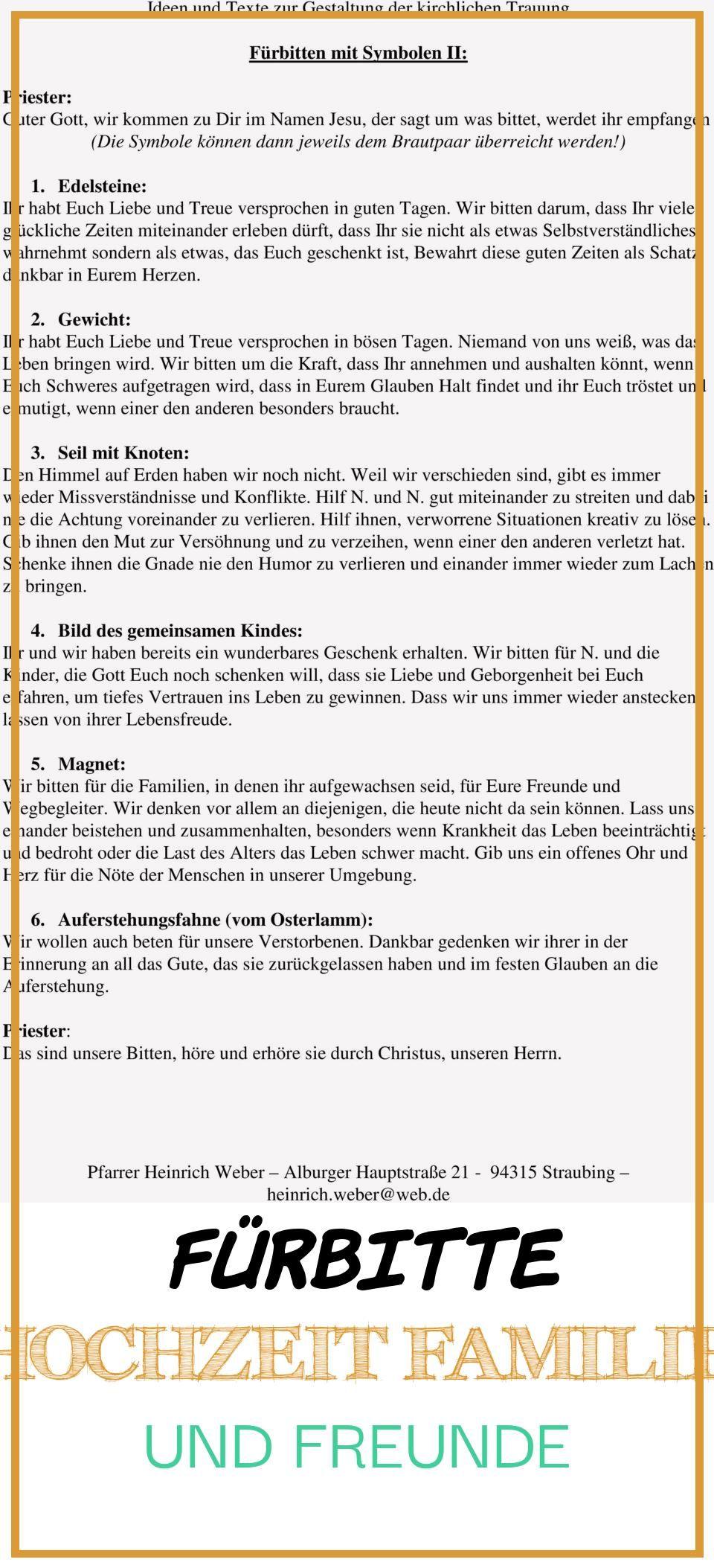 Good 11 Furbitte Hochzeit Familie Und Freunde Furbitten Kirchliche Trauung Hochzeit