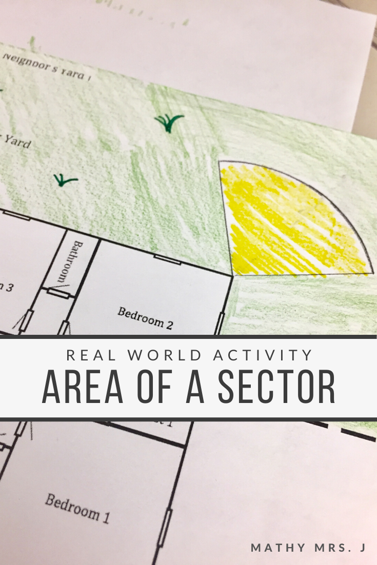 Area of a Sector Geometry Activity #mathintherealworld