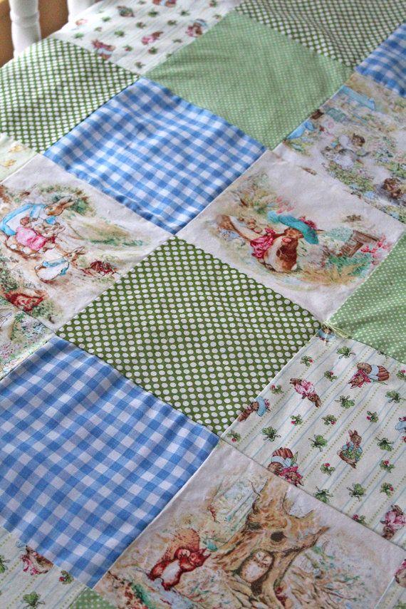 Beatrix Potter Patchwork Quilt Minky By