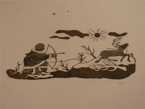 INUIT ART HUNTING CARIBOU