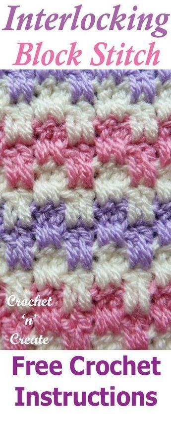 Crochet Interlocking Block Stitch Crochet Patterns Pinterest