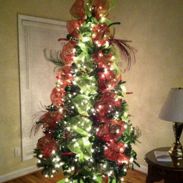 lime green and red christmas tree for the home pinterest red christmas christmas tree and. Black Bedroom Furniture Sets. Home Design Ideas