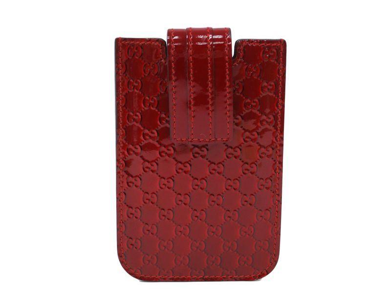 e7c12795927  Gucci Phone case Micro Guccissima Red 240188 (BF107481)  Authenticity  guaranteed