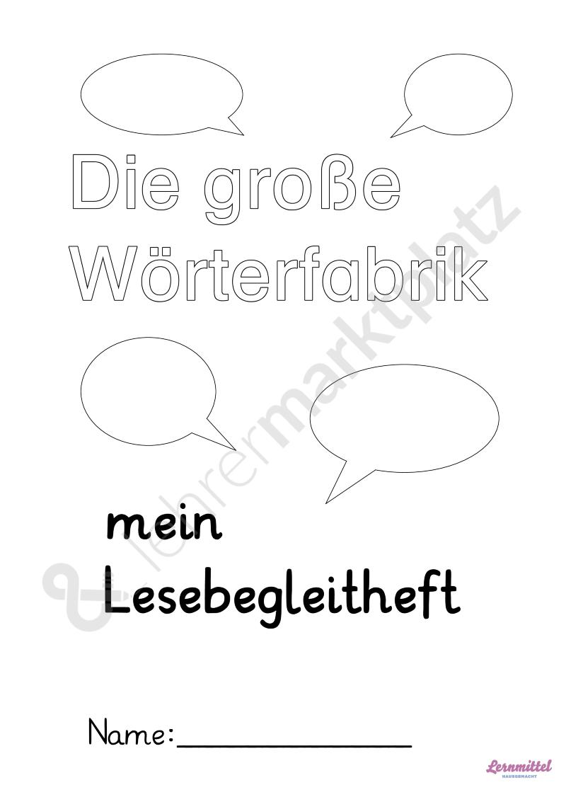 Die große Wörterfabrik - Lesebegleitheft zum Bestseller Buch Deutsch ...