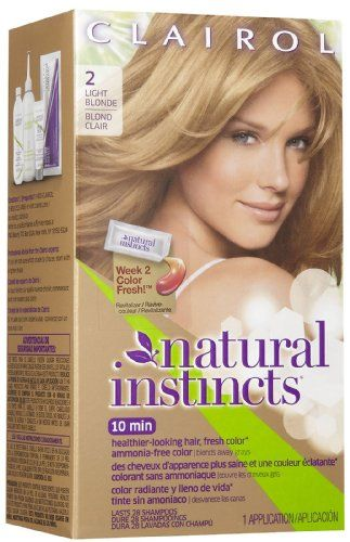 Clairol Natural Instincts Hair Color 02 Sahara Light Blonde 1 Count