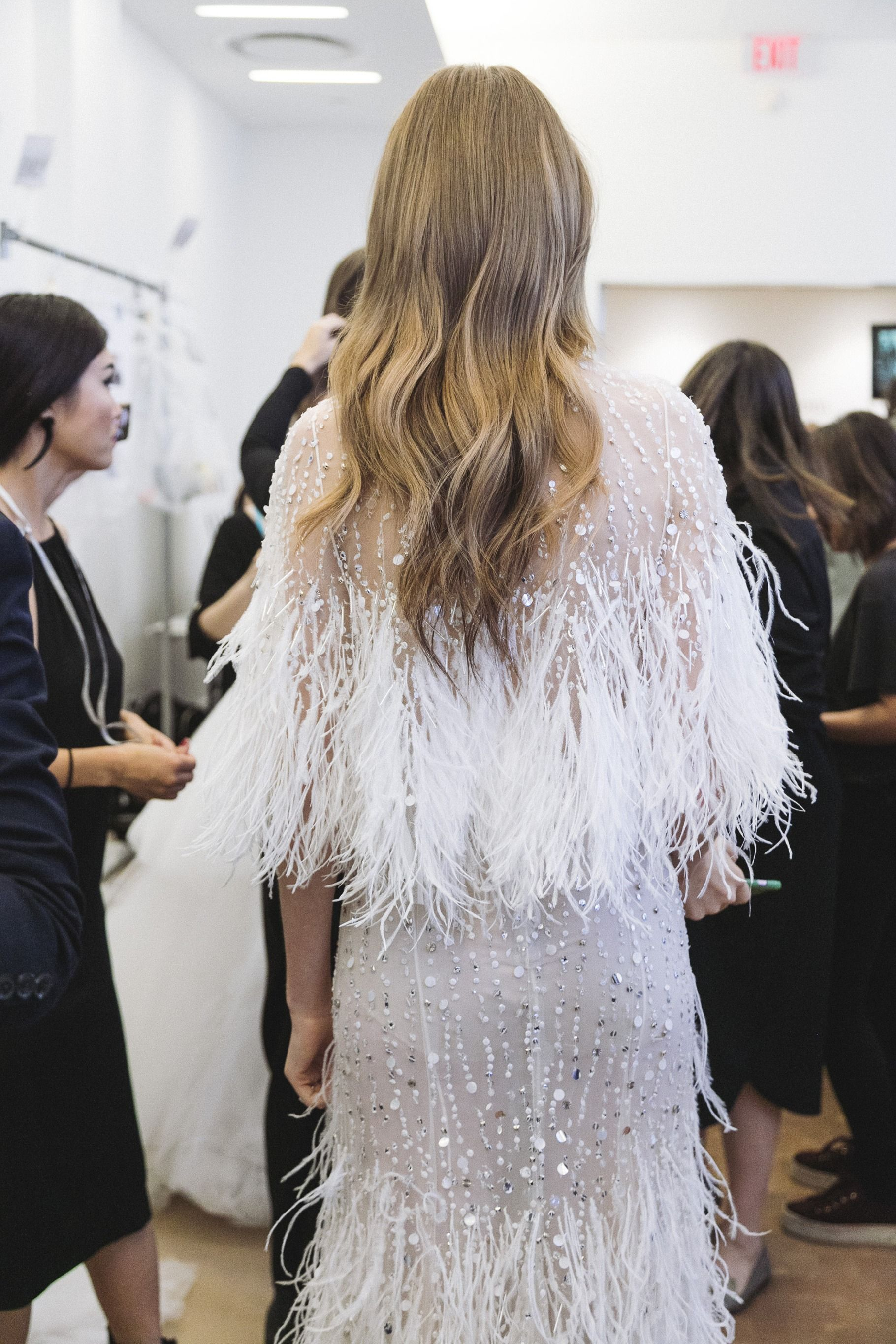 Backstage: NY Bridal Week / Photo: The LANE | WINTER. | Pinterest ...