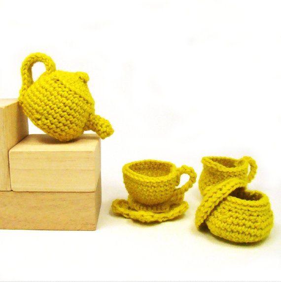 Tea Time Doll Tea Set Crochet Pattern Pdf Crochet Dolls And Patterns