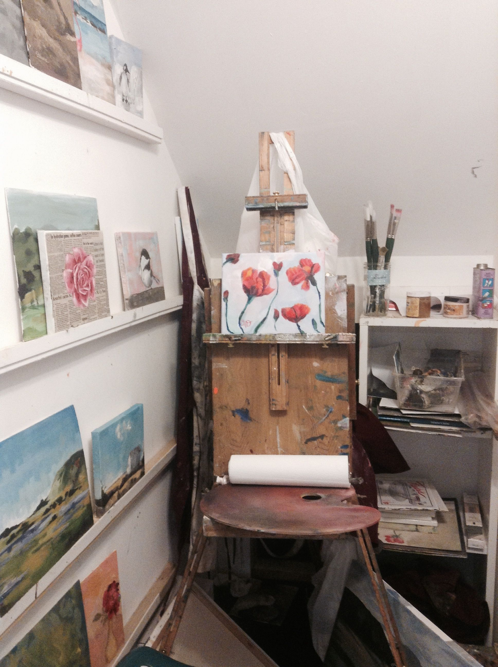 Art studio ideas artists life art organization small studio oil