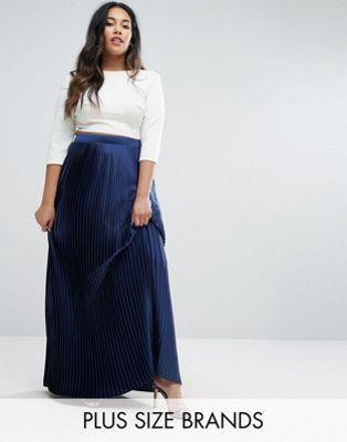 feab7cc9acf Lovedrobe Satin Pleated Maxi Skirt