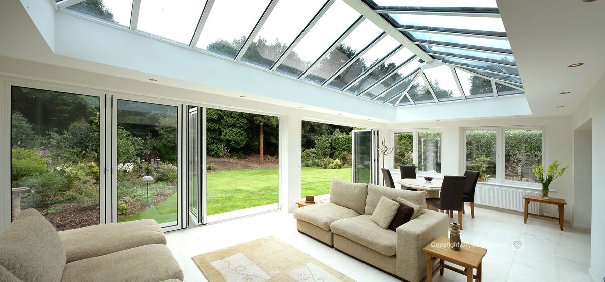 Bi-Folding Doors | 10-year guarantee | Crystal Living | Flat Roof ...