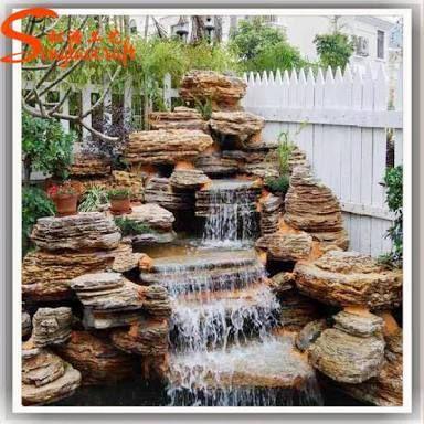 Image result for cascadas de jardin modernas cascadas for Estanque de jardin con cascada