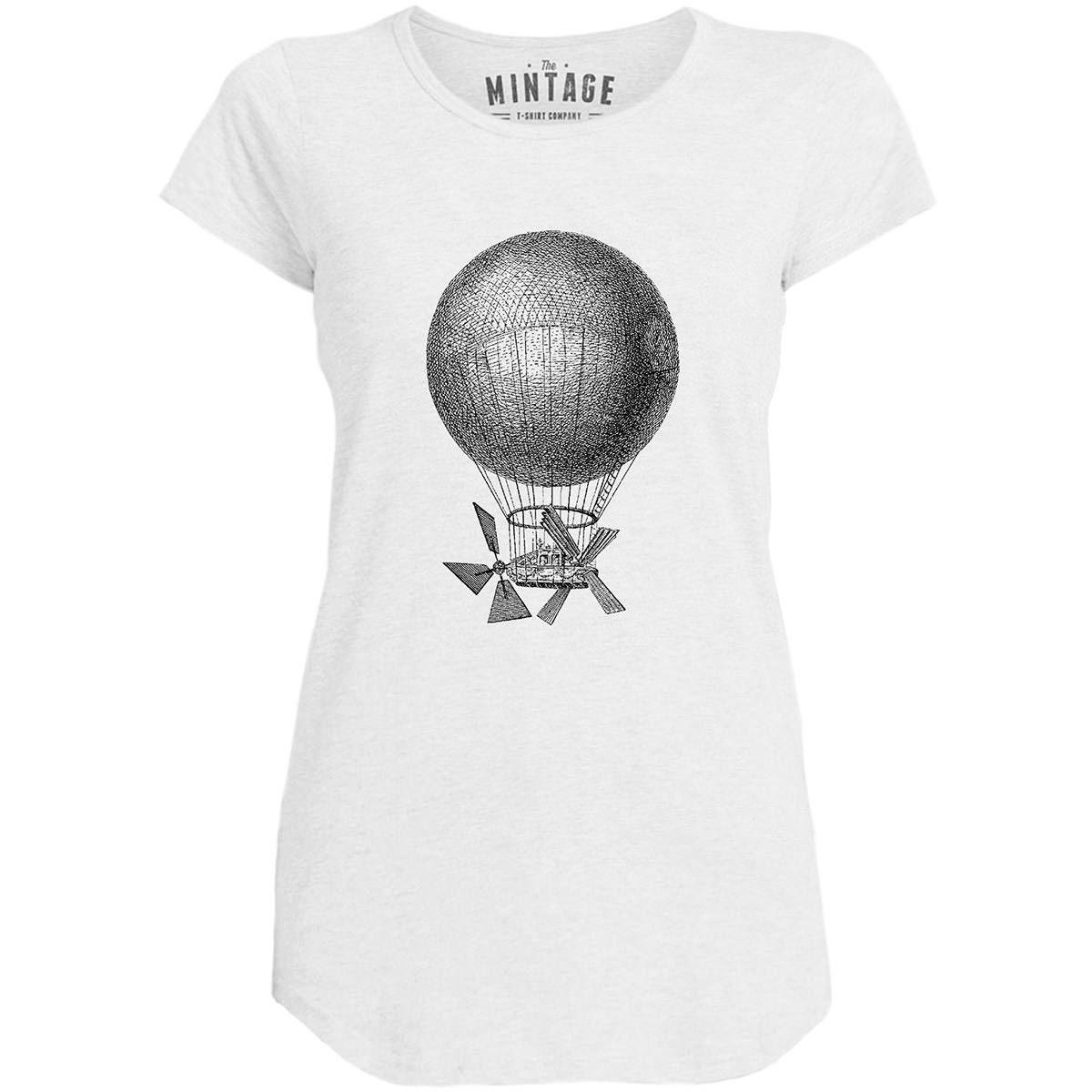 Mintage Magnificent Air Machine Womens Capped Sleeve T-Shirt