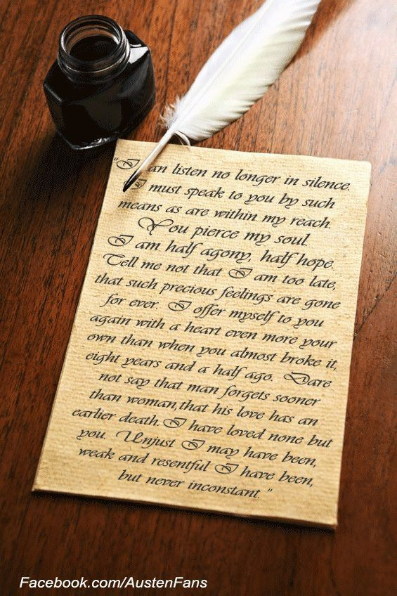 Is Captain Wentworth's letter to Anne the best love letter ever