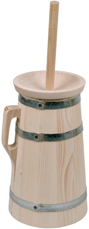Hofmeister Holzwaren Butterfass 5 Liter Aus Fichtenholz Amazon De