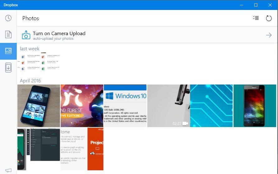 Dropbox UWP App get Video Casting Support It cast, App