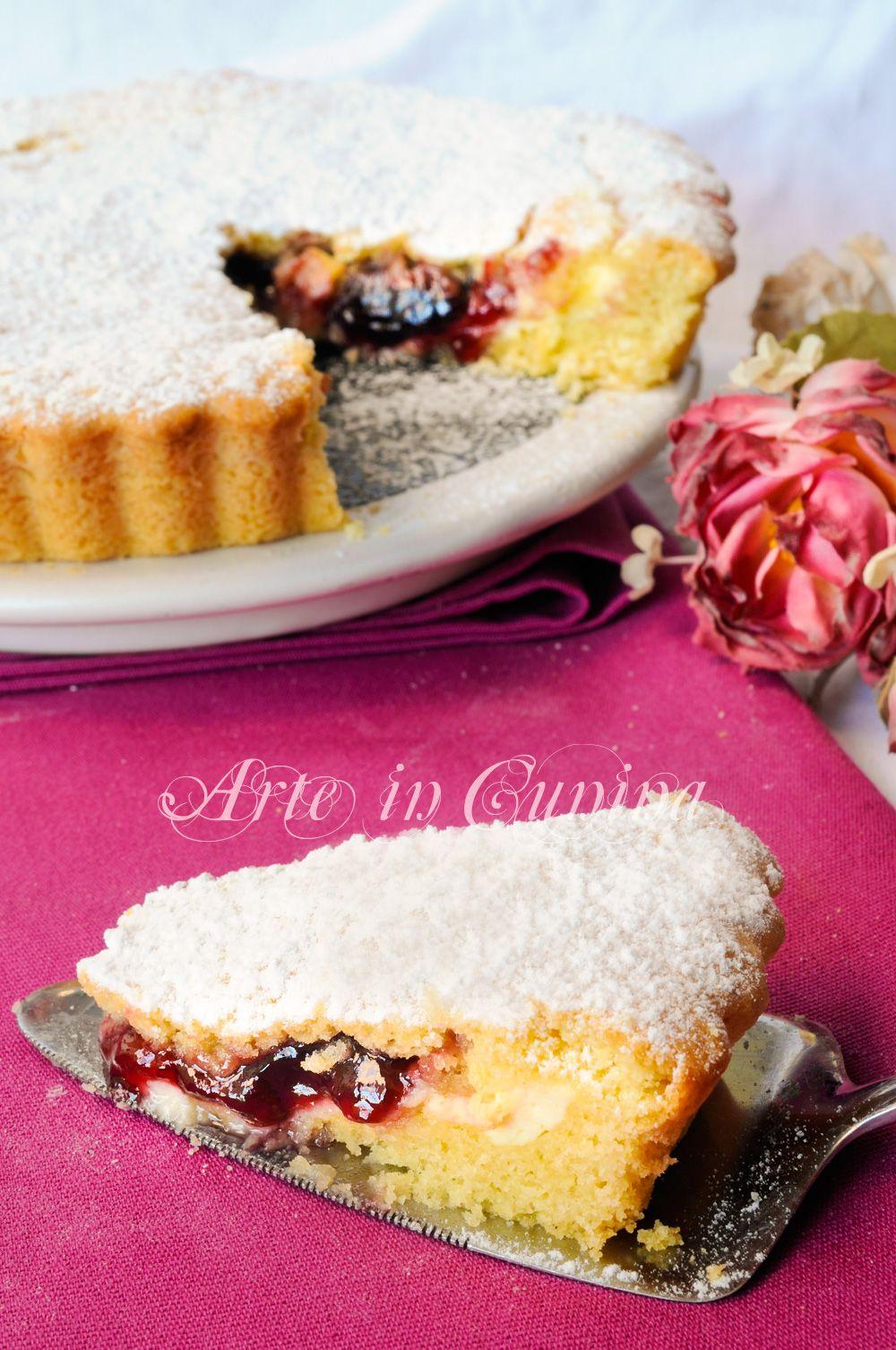 Crostata Morbida Con Ricotta E Marmellata Facile Fame Pinterest