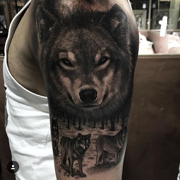 Pin de bartezg en Tatuaże Pinterest Lobos, Tatuajes y Tatto brazo